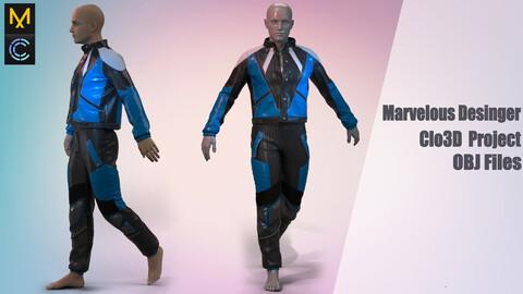 Moto suit  / Marvelous Desinger/Clo3D Project+OBJ File + FBX