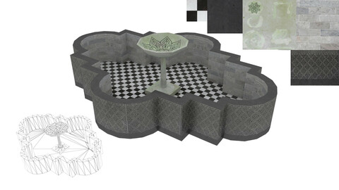 fountain 3d model | gaming fountain 3d model