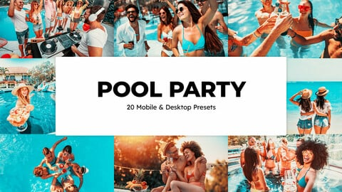 20 Pool Party LUTs and Lightroom Presets