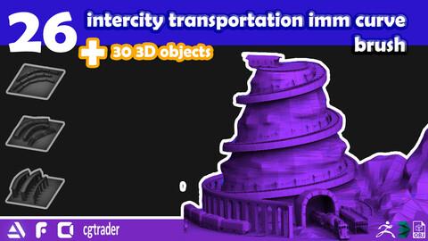 intercity transportation imm curve brush -vol1