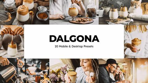 20 Dalgona LUTs and Lightroom Presets