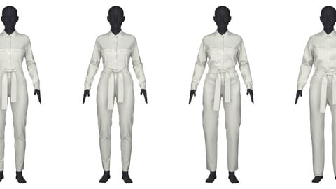 Women's jumpsuit in 4 different fits/sizes