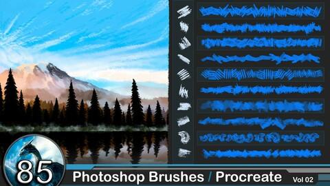 85  Photoshop Brushes / Procreate    vol 02