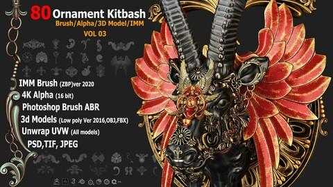 80 Ornament Brush/Alpha/3D Model VOL03