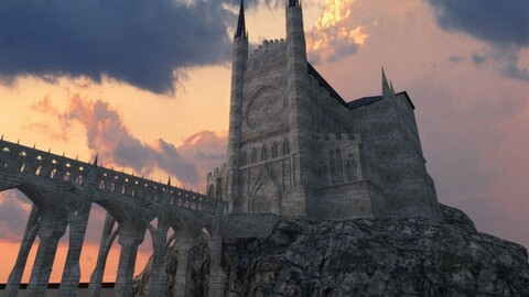 Gothic Cathedral environment LOW POLY