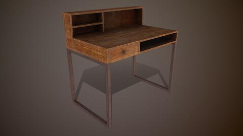 Old Desk 3d Model PBR 2K Texture
