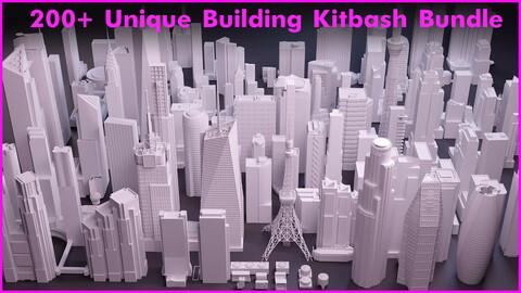 200+ Unique Building Kitbash Bundle
