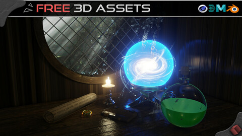 Magical House - Free 3D Assets