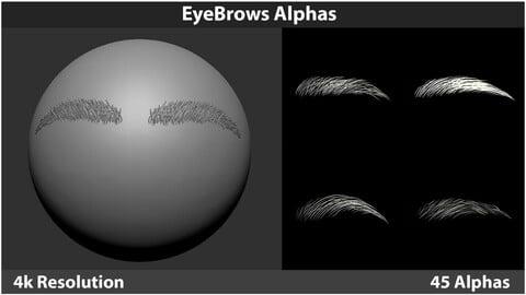 EyeBrows Alphas