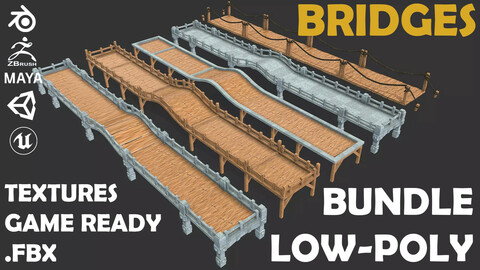 Bridges Bundle Low Poly