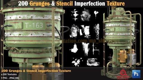 200 Grunges & Stencil Imperfection Texture