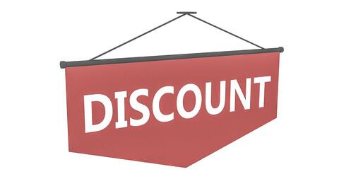 3D market discount sign model