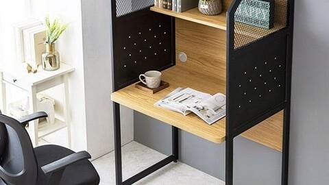 Steel Mesh Reading Room Desk