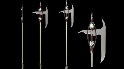 HIGH POLY MEDIEVAL FANTASY AXE -  WEAPON DESIGN ZBRUSH