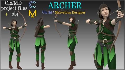 Archer / Marvelous Designer, Clo3d project