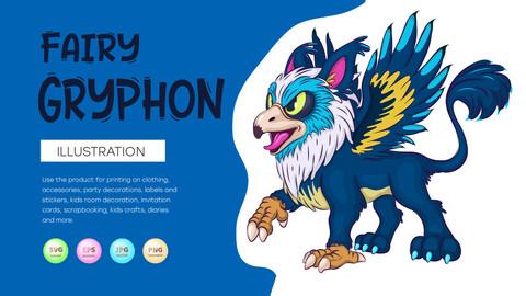 Fairy Cartoon Gryphon.