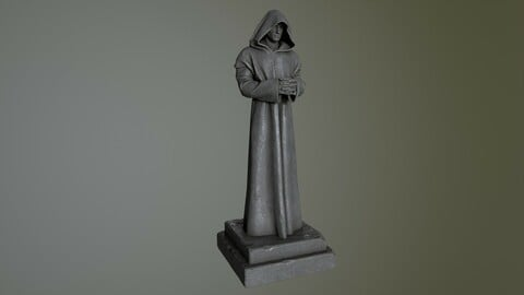 Robe Statue Low-poly 3D model