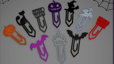 Spooky halloween printable clips