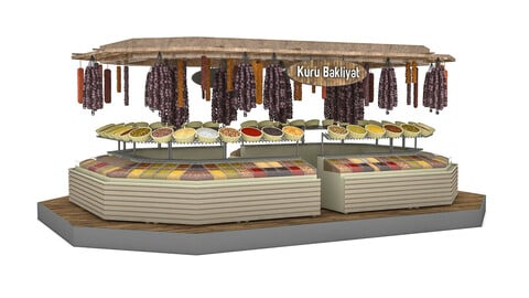 dry food and pulses market 3D model