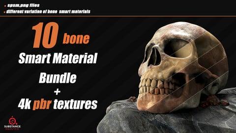 10 Bone Smart Material + 4k PBR Textures_VOL01