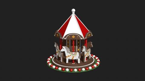 Christmas carousel toy