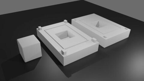 Mold for Dice 6 Sides Blank - Form - Molde para Dados - Printable