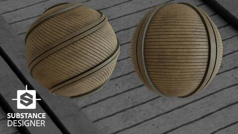 Wooden Pier Material %100 Substance Designer