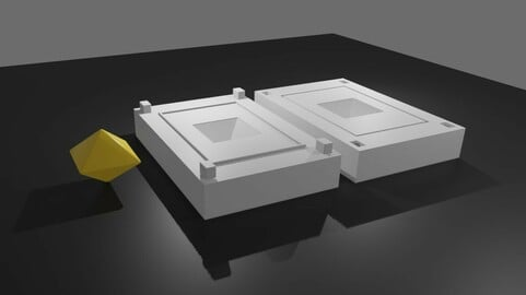 Mold for Dice 8 Sides Blank - Form - Molde para Dados  - Printable