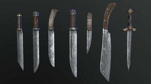 Vikings Swords and Knifes set