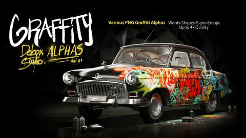 Graffiti Alphas-PNG-Vol01-Substance Painter-Photoshop
