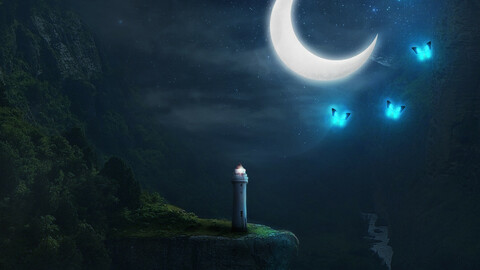 The lighthouse in Magical land