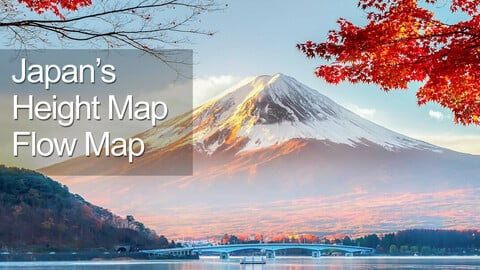 Full Japan HeightMap and FlowMap