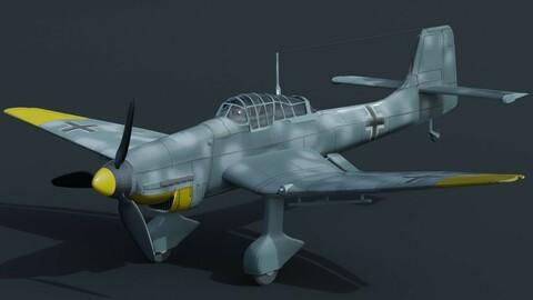 Stuka plane 3d model