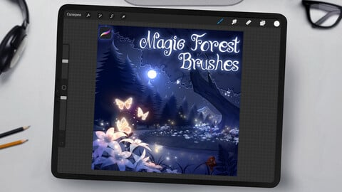 Magic Forest Brushes for Procreate