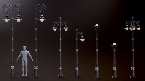 Modular Old Street Lighting 8K