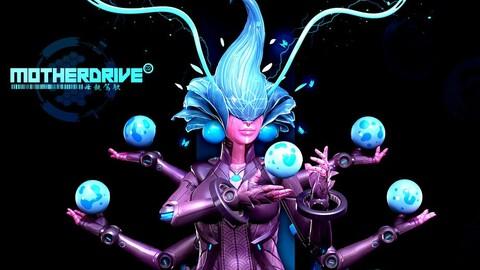 Female Fantasy Robotic Character Creation
