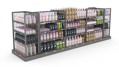 cosmetic product market stand