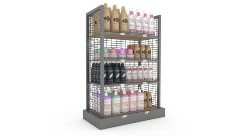 cosmetic product market stand 03