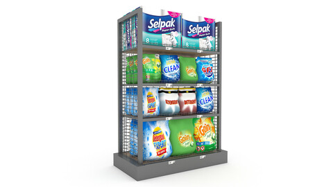 model cleaning product market stand 03