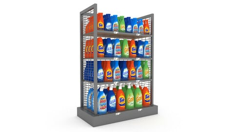 cleaning product market stand 05
