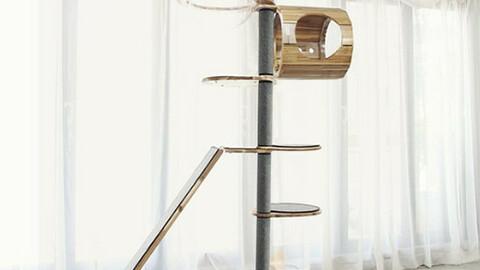 P1 high-grade solid wood aluminum large cat cat pole cat tower