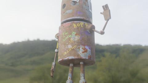 turnaround robot Blender   Sad Robot