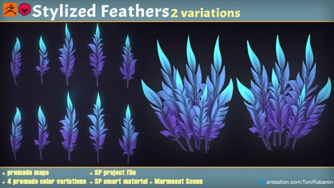 Stylized Feather Textures