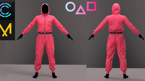 """Jumpsuit in the style of """"Squid game"""""""