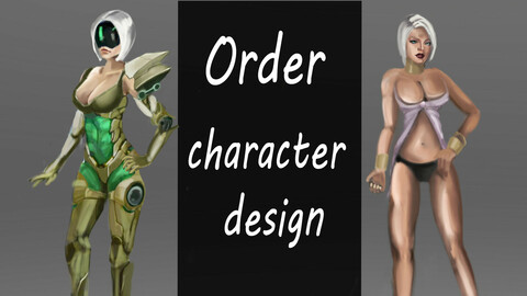 I will draw character design concept art for your game