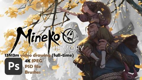 Mineko: memory - full video 13h13M (real time, full HD 60fps) - 4k image - PSD - Brushes