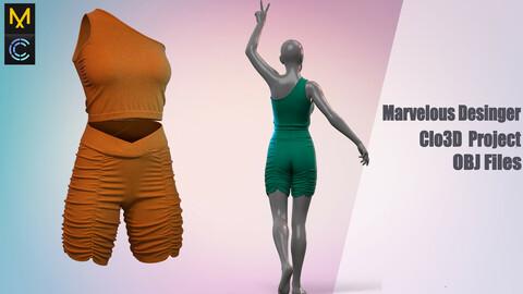 Fitness suite / Marvelous Desinger/Clo3D Project+OBJ File+ FBX