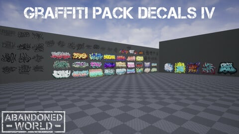 Graffiti Pack Decals IV for UE4 & Unity