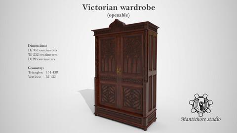 Victorian wardrobe (openable)