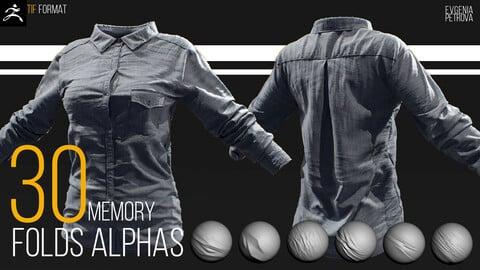 30 ALPHAS MEMORY FOLDS FOR CLOTH. TIF FORMAT